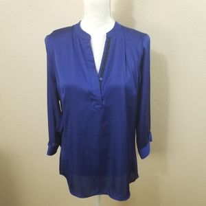The Limited Blue V Neck Blouse Size Medium